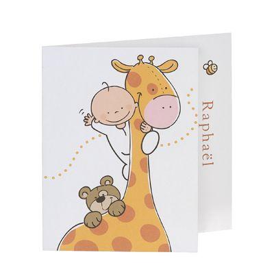 Invitatie haioasa, design cu girafa