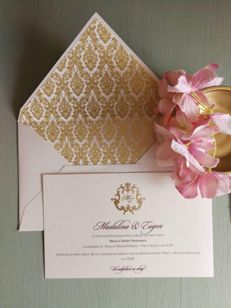 Invitatie nunta Gold Baroque - poza 2