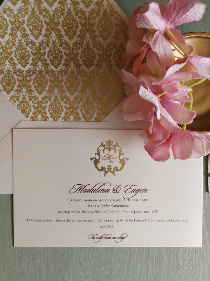 Invitatie nunta Gold Baroque - poza 3
