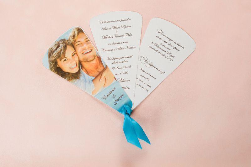 Invitatie nunta cu poza evantai - poza 1
