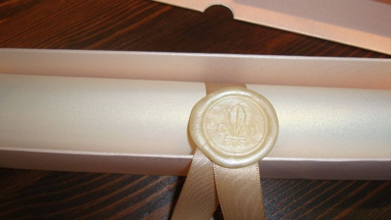 Invitatie nunta model scroll - poza 3