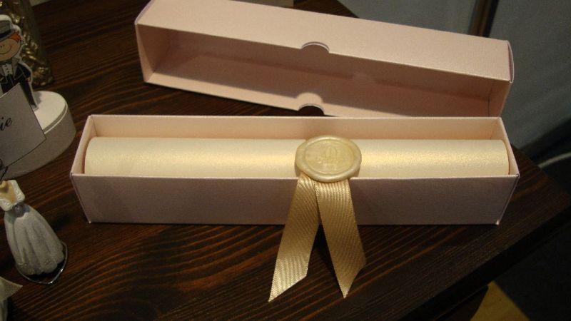 Invitatie nunta model scroll - poza 2