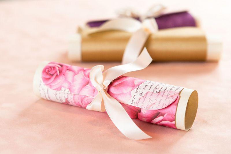 Invitatie nunta eleganta cu trandafiri