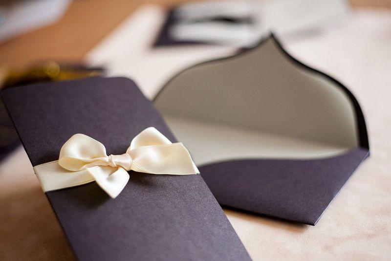 Invitatie nunta eleganta maro sidefat - poza 3