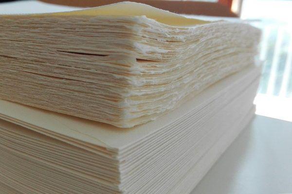 Invitatie nunta hartie manuala - poza 3