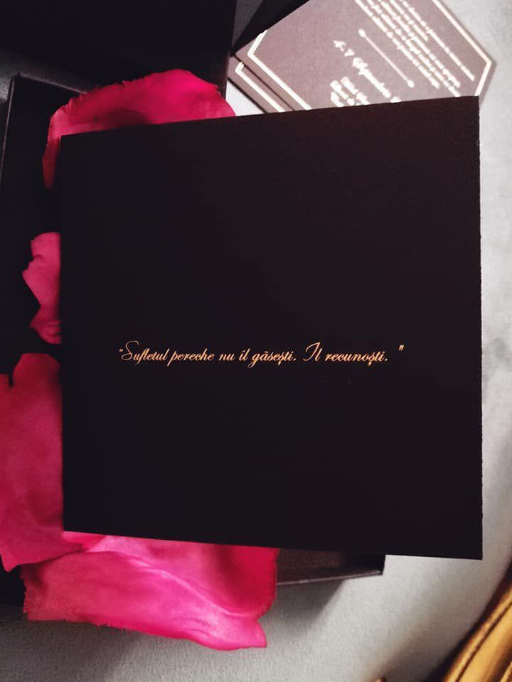Invitatie nunta in cutie catifea neagra - poza 3