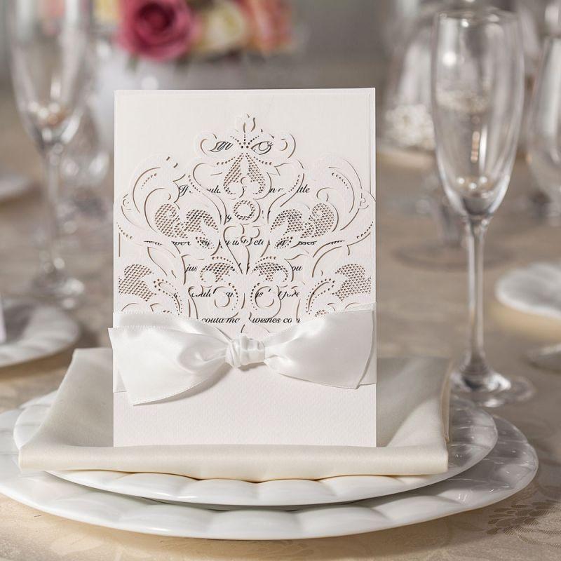 Invitatie nunta lasercut Baroque - poza 2