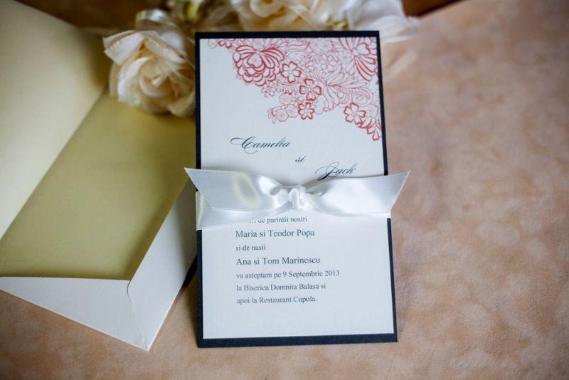 Invitatie nunta model romantic - poza 1