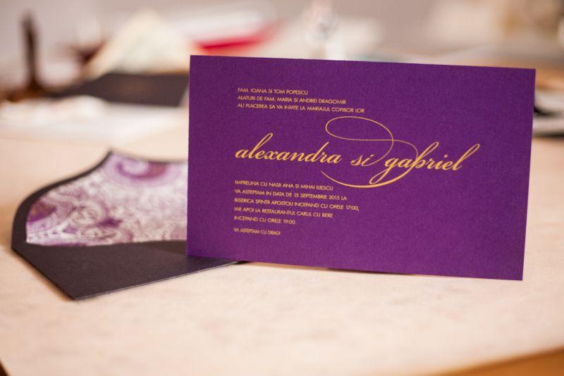 Invitatie nunta mov - poza 1