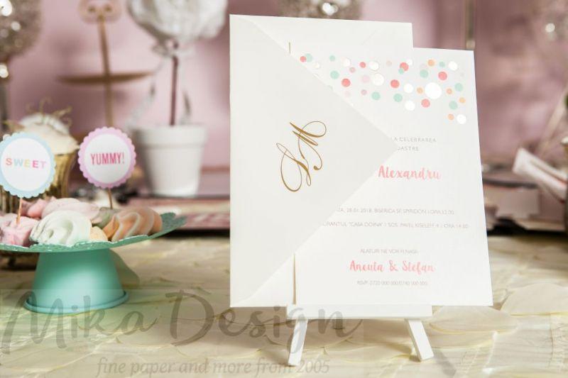 Invitatie nunta pastel - poza 2