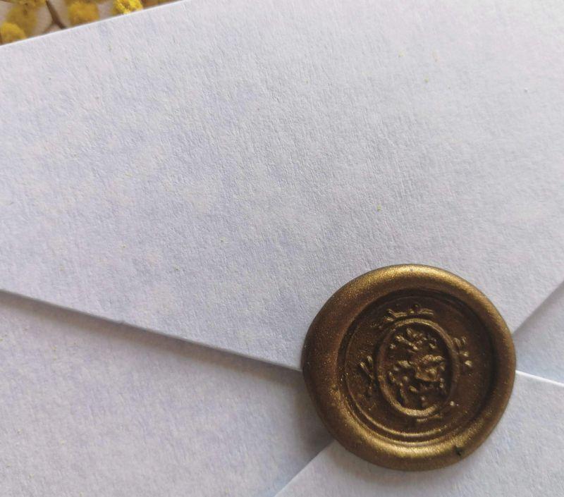 Invitatie nunta plic bleu marmorat - poza 4