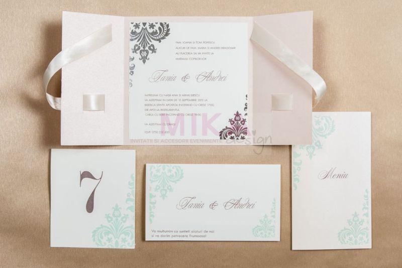 Invitatie nunta rose pal - poza 4