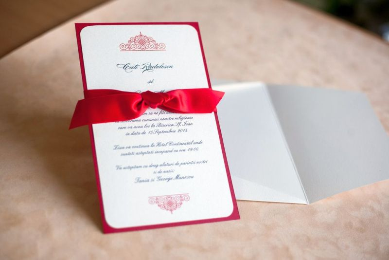 Invitatie nunta rosie - poza 2