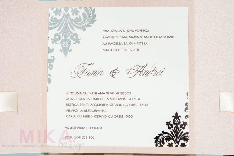 Invitatie nunta rose pal - poza 3