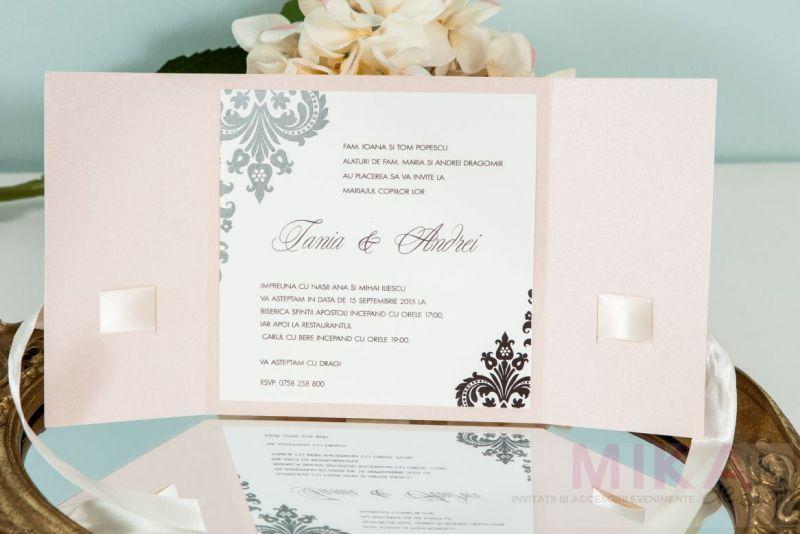Invitatie nunta rose pal - poza 1