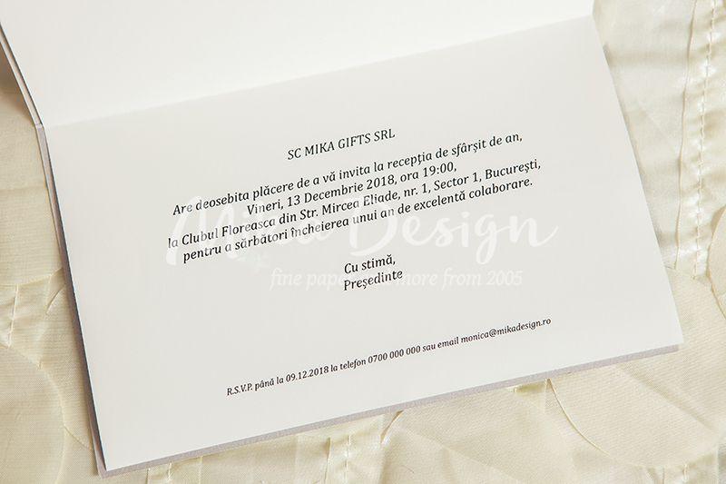 Invitatie simpla si eleganta ideala pentru orice tip de eveniment - poza 2