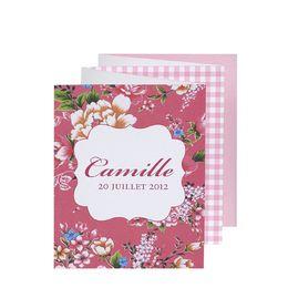 Invitatie vesel colorata, design cu floricele