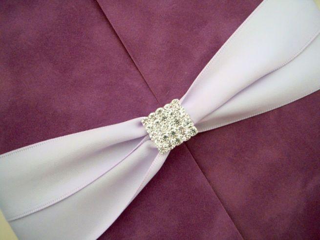 Catifea lila, invitatii nunta de lux - poza 4