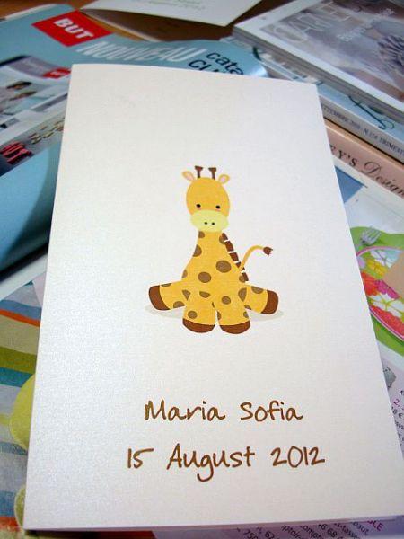 Meniu pentru masa cu girafa vesela - poza 2