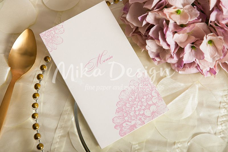 Meniu cu flori delicate rose
