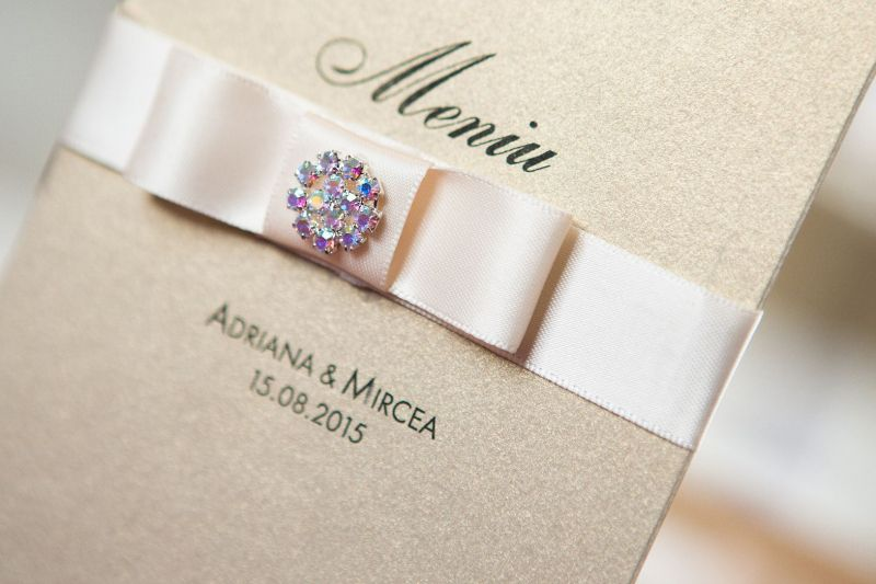 Meniu nunta auriu elegant - poza 3