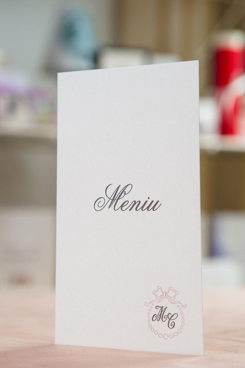Meniu  nunta cu initiale miri - poza 1