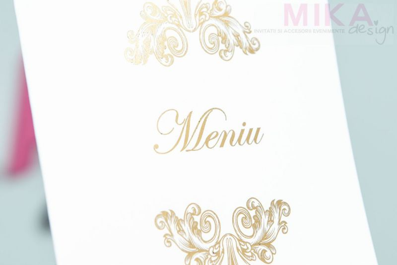 Meniu nunta elegant cu auriu sidefat - poza 2