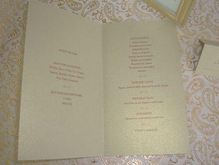 Meniu nunta elegant auriu - poza 2