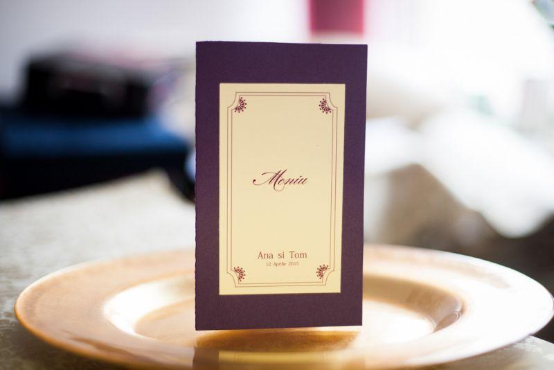 Meniu nunta mov sidefat - poza 1