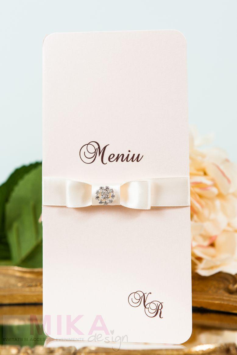 Meniu nunta roz pal cu stras - poza 3