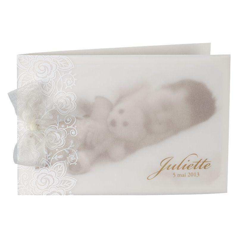Invitatie botez delicata cu poza bebe - poza 1