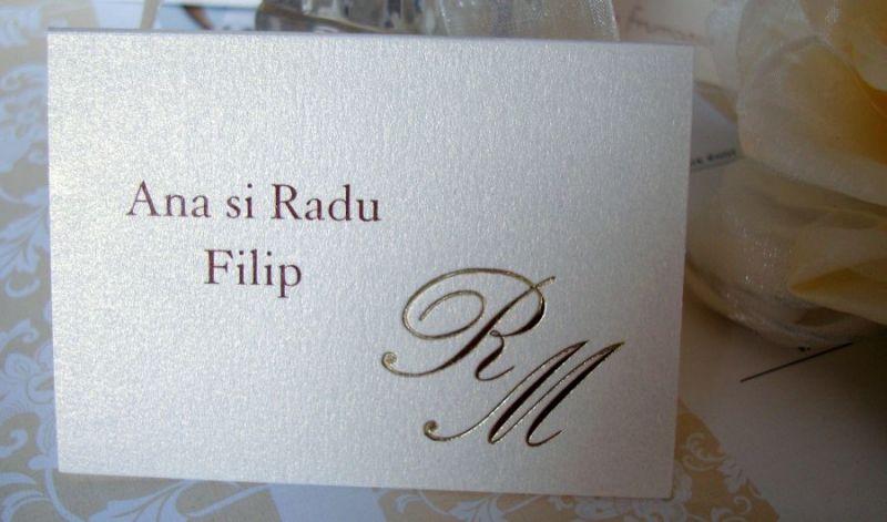 Place card elegant cu initiale - poza 2