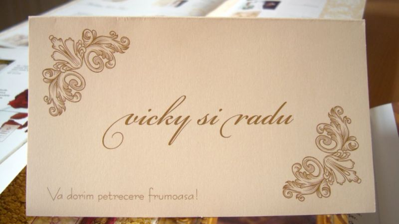 Plic de bani nunta cu design elegant in colturi - poza 1