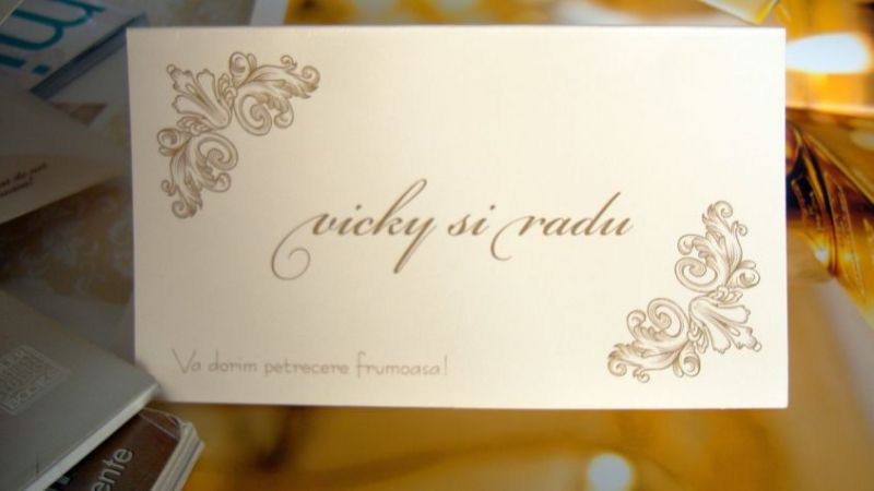 Plic de bani nunta cu design elegant in colturi - poza 2