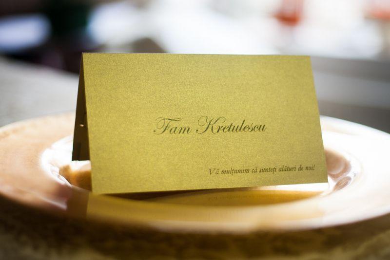 Plic de bani elegant din carton auriu - poza 3