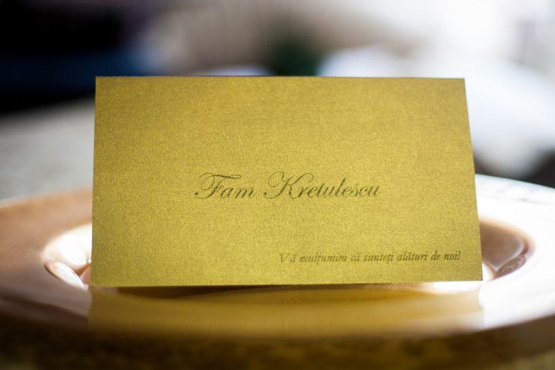 Plic de bani elegant din carton auriu - poza 2