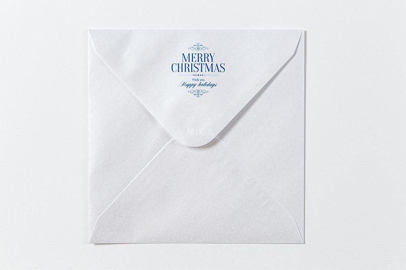 Plic patrat sidefat Merry Christmas - poza 2