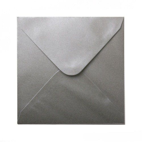 Plic patrat sidefat Platinum Silver - poza 1