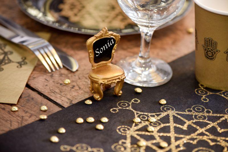 Scaunel auriu suport card - poza 2