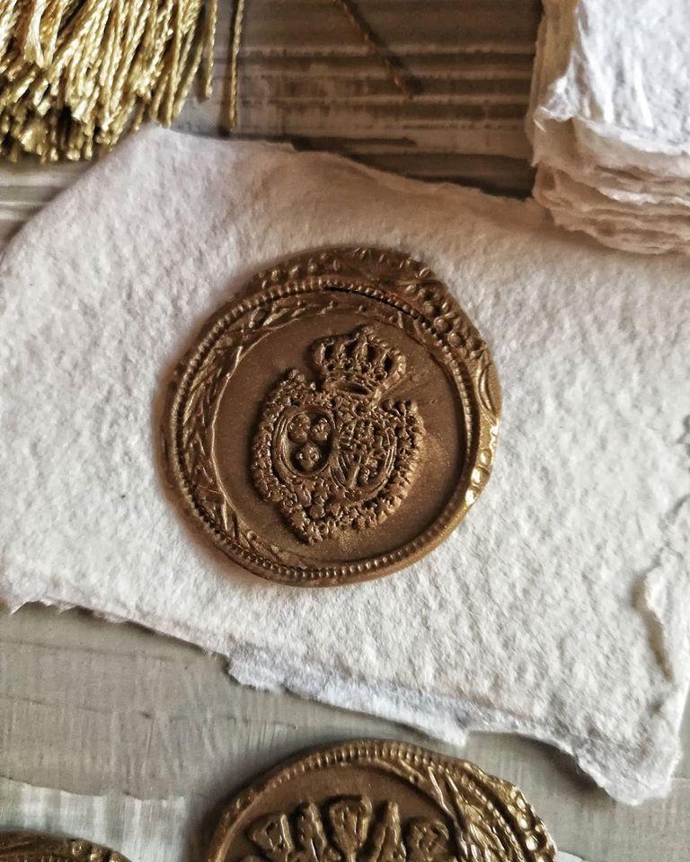 Sigiliu auriu personalizat - poza 1