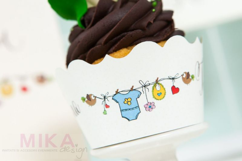 Ambalaj cupcakes haios botez baietel - poza 2