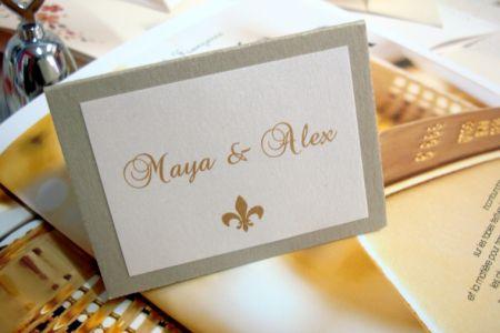 Place card design Fleur de Lys - poza 1