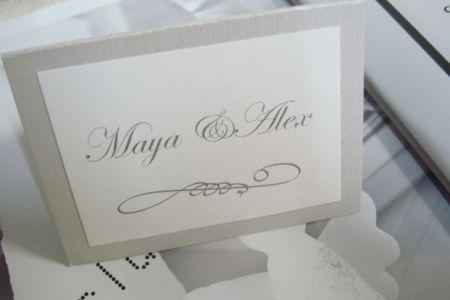 Card masa nunta design argintiu - poza 2