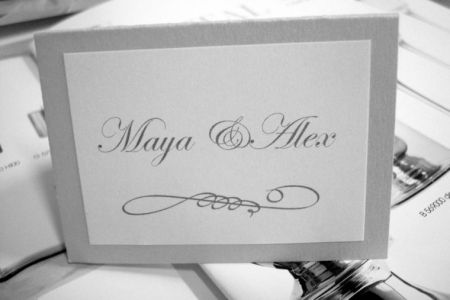 Card masa nunta design argintiu
