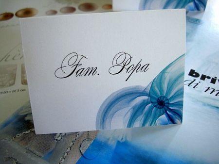 Card de asezare cu tematica marina stilizata - poza 1