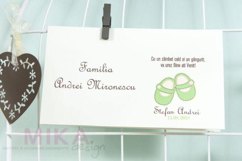 Carduri multumire cu botosei verde pastel - poza 1