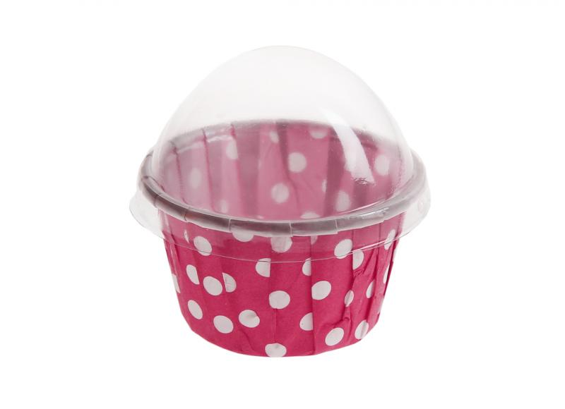 cutiuta macaron dots roz