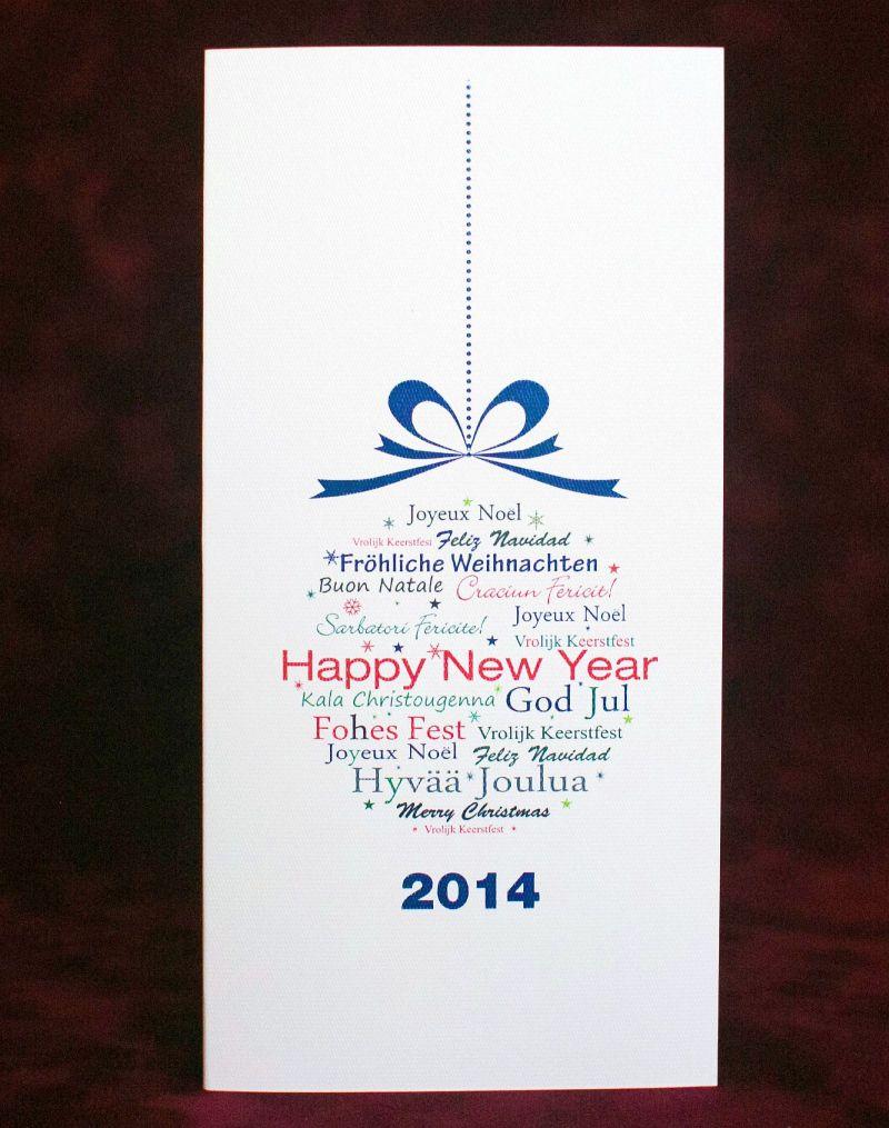 Felicitare de craciun 2014 cu glob albastru - poza 3