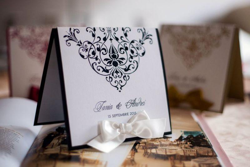 Invitatie nunta alb negru - poza 5