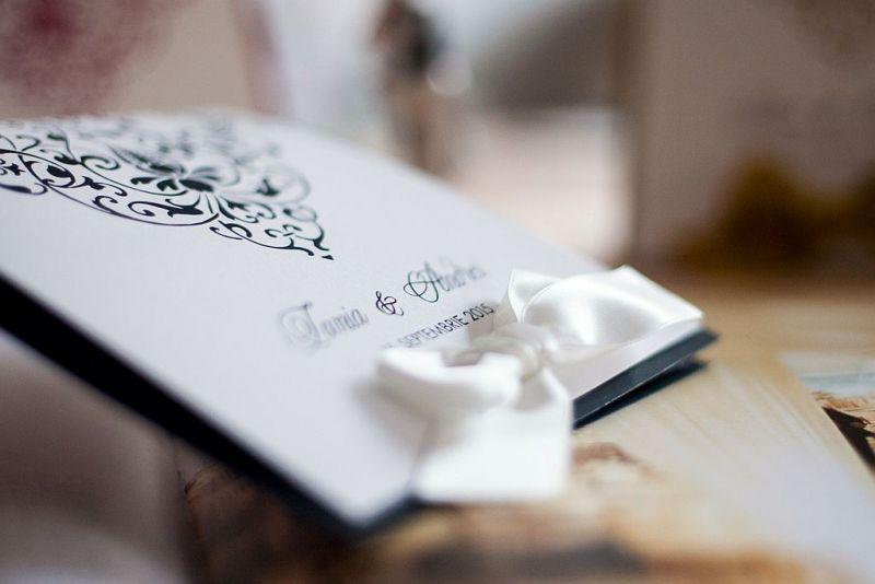 Invitatie nunta alb negru - poza 2